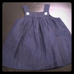 Jacadi Navy dress with button detail